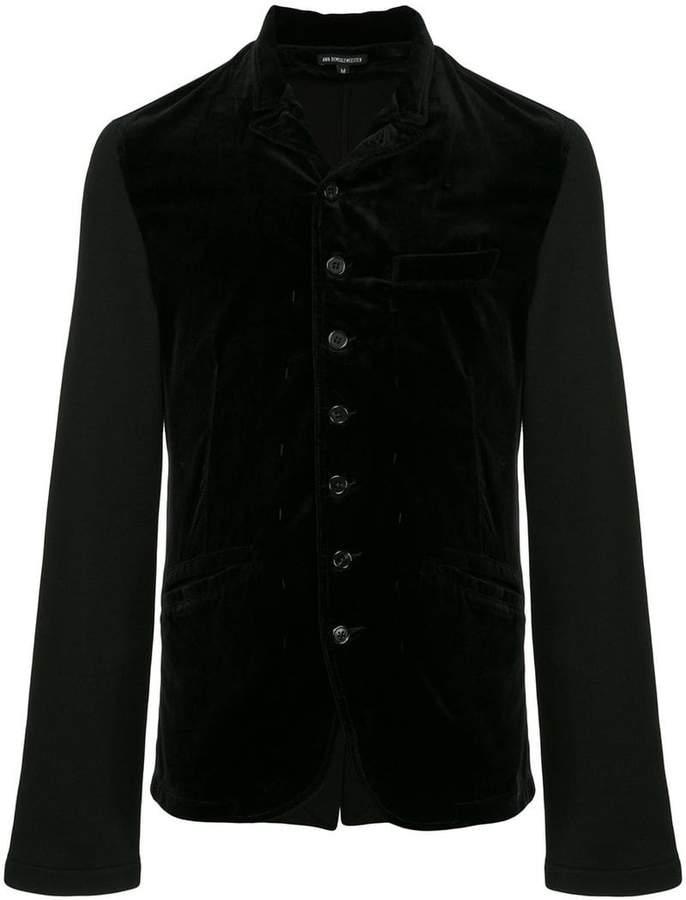 Ann Demeulemeester velvet button jacket