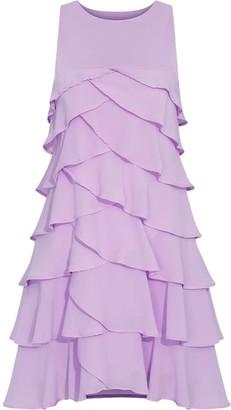 Gisy Lilac Ruffle Mini Dress