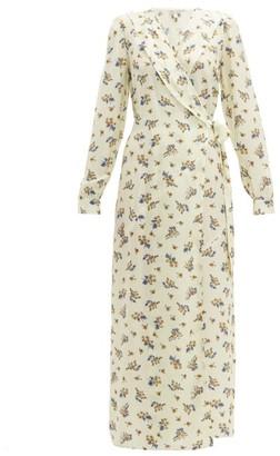 Belize - Salome Floral-print Silk-blend Wrap Dress - Womens - Cream Print