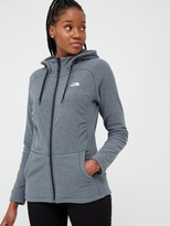 The North Face Mezzaluna Full Zip Hoodie - Black/White