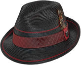 Stacy Adams Dorfman Straw Pinch-Front Fedora