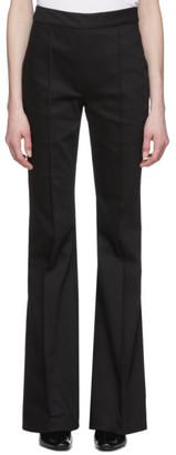 Rosetta Getty Black Denim Pintuck Trousers