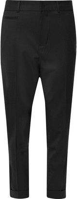 Club Monaco Black Slim-Fit Tapered Stretch-Wool Twill Trousers