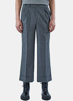 Yang Li Men's Wide Leg Pants In Grey