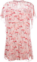 RED Valentino flamingo print dress - women - Silk/Polyester - 42
