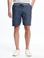 Old Navy Railroad-Stripe Drawstring Shorts for Men
