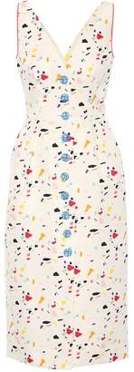 Carolina Herrera Printed cotton-blend dress