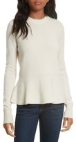Veronica Beard Women's Raleigh Cashmere Peplum Sweater