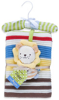 Bed Bath & Beyond Lolli Living(TM) by Living Textiles Baby Cotton Knitted Blanket & Rattle Toy - Ziggy Lion