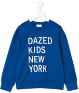 DKNY dazed kids New York print sweatshirt