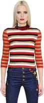 Sonia Rykiel Sequin & Lurex Striped Knit Sweater