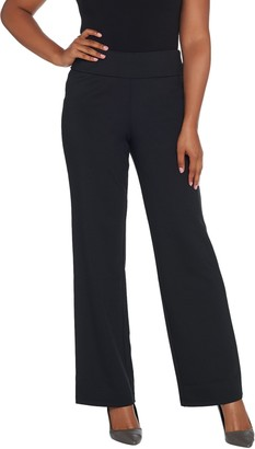 Bob Mackie Regular Length Pontichine Straight Leg Pants