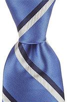 Roundtree & Yorke Stripe Dot Traditional Silk Tie