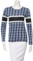 Derek Lam Long Sleeve Printed Top