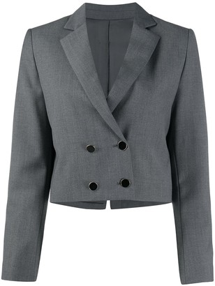 L'Autre Chose Cropped Double-Breasted Blazer