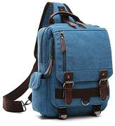 Small Canvas Travel Backpack Purse Rucksack One Strap Sling Cross body Messenger Bag