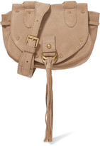 See by Chloe Collins Small Suede And Textured-leather Shoulder Bag - Beige