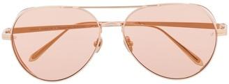 Linda Farrow Tinted Aviator Sunglasses