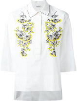 P.A.R.O.S.H. embroidered shirt - women - Cotton/Spandex/Elastane/PVC - S