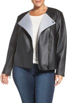 MICHAEL Michael Kors Bonded Faux Leather Jacket (Plus Size)