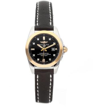 Breitling Women's Leather Diamond Watch