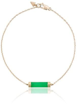 Loren Stewart 14k yellow gold and jade Baril bracelet