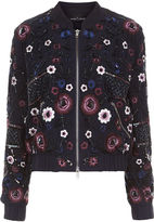Needle & Thread Midnight Embroidered Folk Bomber Jacket