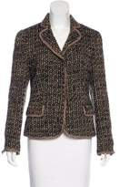 Moschino Cheap & Chic Moschino Cheap and Chic Tweed Notch-Lapel Blazer