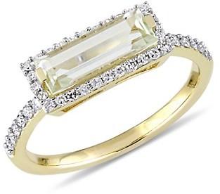Saks Fifth Avenue 14K Yellow Gold, Diamond Green Quartz Ring