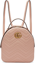 Gucci Pink Gg Marmont Backpack