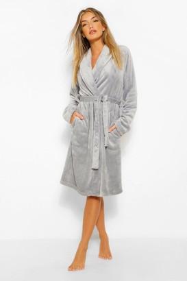 boohoo Basic Long dressing gown