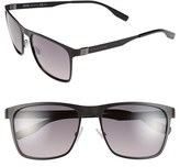 BOSS Men's 57Mm Polarized Sunglasses - Matte Black