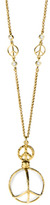 Jolie B Ray Peace Sign Rock Crystal Necklace