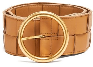 Bottega Veneta Woven Leather Belt - Beige