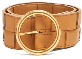 Bottega Veneta Woven Leather Belt - Womens - Beige