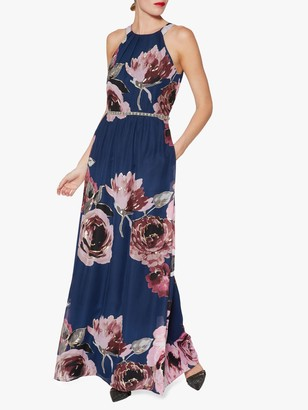Gina Bacconi Avis Floral Dress, Blue