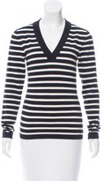 Veronica Beard Black and White Striped Sweater