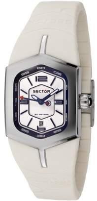 Sector Winch Women's Watch Analogue Quartz with White Rubber Strap - R3251101545