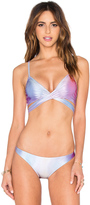 Wildfox Couture Fairy Hologram Wrap Bikini Top
