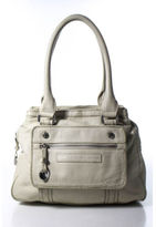 Marc by Marc Jacobs Beige Pebbled Leather Silver Tone Shoulder Handbag