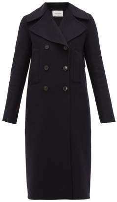 Valentino Double-breasted Cashmere Coat - Womens - Navy