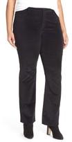 NYDJ Plus Size Women's 'Billie' Stretch Mini Bootcut Corduroy Pants