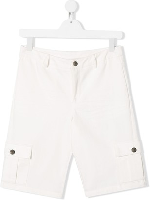 John Richmond Junior relaxed-fit logo cargo shorts