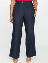 ELOQUII Plus Size Nautical Wide Leg Jean