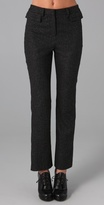 Porter Grey Tweed Fitted Trousers