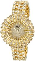 Burgi Women's BUR054G Analog Display Analog Quartz Gold Watch