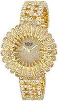 Burgi Women's BUR054G Analog Display Analog Quartz Gold Watch