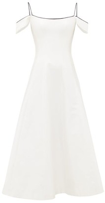 Rasario Off-the-shoulder Silk Corset Dress - Womens - White