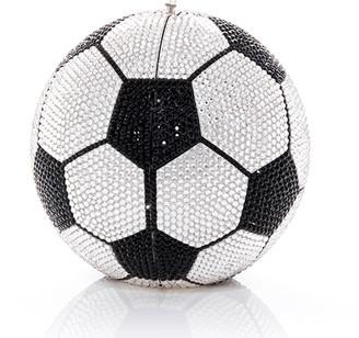 Judith Leiber Sphere Soccer Ball Clutch Bag