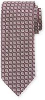 Brioni Silk Lattice-Pattern Tie